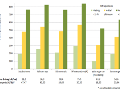 Abbildung 1: Deckungsbeiträge von Druschfrüchten im Mittel der Jahre 2011 bis 2015