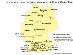 Hersteller von Soja-Lebensmitteln in Deutschland. Quelle: Recknagel, Sojaförderring