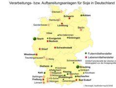 Verarbeitung und Aufbereitung von Soja in Deutschland.